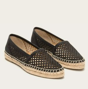 FRYE lee a-line perforated espadrilles flats